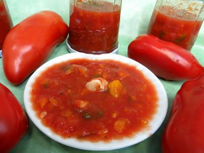 Recette Sauce tomates aux carottes (conserves)