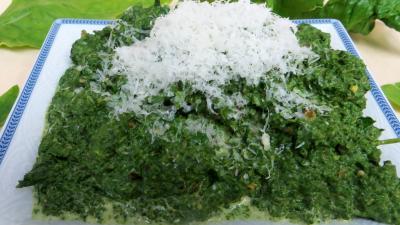 Recette Mousseline d'épinards au mascarpone