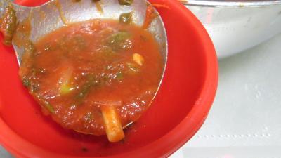 Sauce tomate pizza aux épinards (conserves) - 8.2