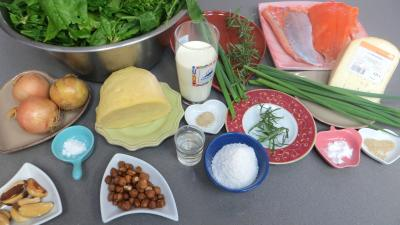 Ingrédients pour la recette : Tourte au saumon