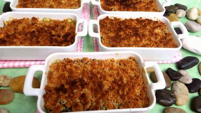 orange zeste : Cassolettes de crumble aux blettes