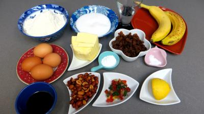Ingrédients pour la recette : Cake à la banane