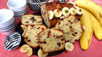 cake sucré : Tranches de cake à la banane