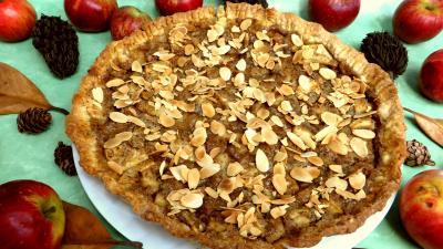 Amande effilée : Tarte aux pommes et aux amandes