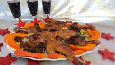 Volailles et gibiers : Plat de confit de canard à la sauce soja