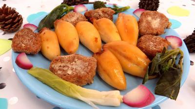 Poissons : Assiette de calamars farcis