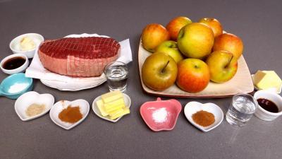 Ingrédients pour la recette : Bison rôti aux pommes