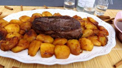 Viandes : Assiette de bison aux pommes
