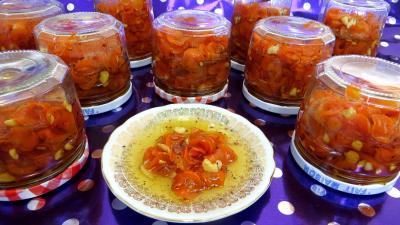 gousse de vanille : Pots de confiture de carottes
