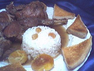 faisan : Assiette de faisan en salmis