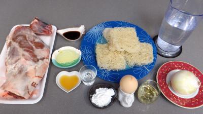 Ingrédients pour la recette : Agneau au vermicelle de riz