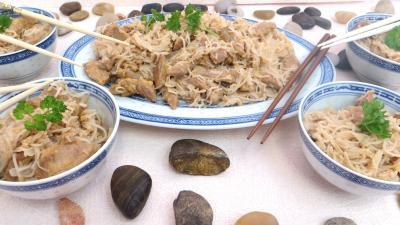 Cuisine chinoise : Bols d'agneau au vermicelle de riz