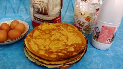 cointreau : Assoette de crêpes à la farine de seigle