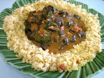 Image : assiette d'escargots aux épinards