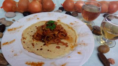 crêpe salée : Crêpes et ses fenouils à l'Orientale
