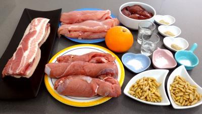 Ingrédients pour la recette : Terrine de volaille