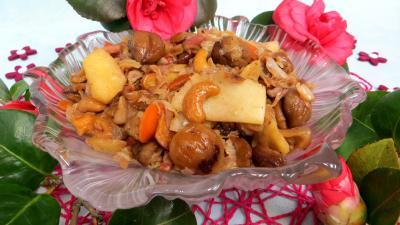 noix de cajou : Plat de chou aux châtaignes