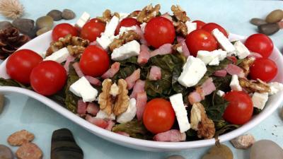 Recette Plat de salade de chou, noix et féta