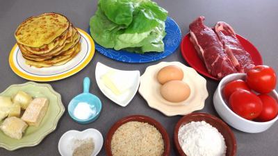 Ingrédients pour la recette : Pancakes façon hamburger
