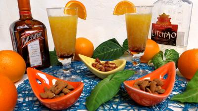 Anniversaire : Verres de punch orange-ananas