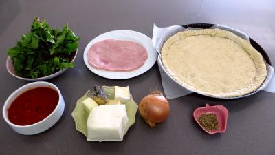Ingrédients pour la recette : Pizza aux broutes
