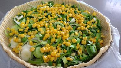 Tarte aux poireaux et au maïs - 4.4