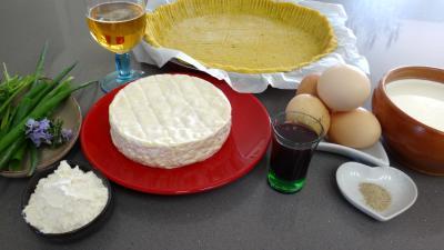 Ingrédients pour la recette : Tarte au camembert