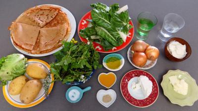 Ingrédients pour la recette : Aumônières aux broutes