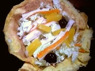 Image : recette Aumônières de crêpes au chou chinois