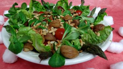 Image : Saladier de salade de châtaignes