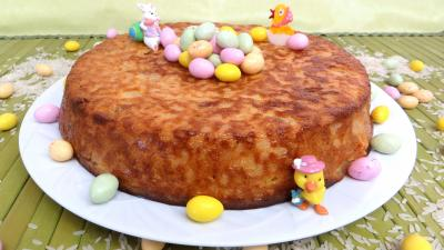 Image : recette Gâteau de riz aux poires