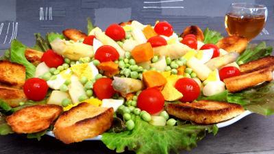 Recette Petits pois en salade