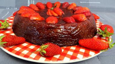 gâteau fruits : Gâteau à la fraise sans gluten
