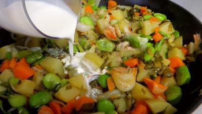 Fèves et légumes à l'oseille - 6.2