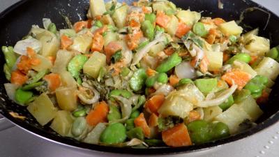 Fèves et légumes à l'oseille - 6.4