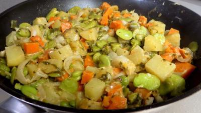 Fèves et légumes à l'oseille - 7.2