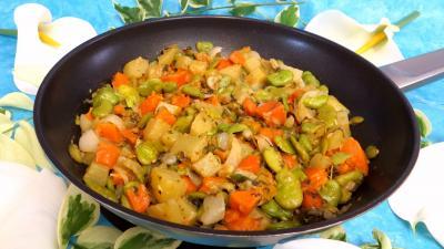 Recette Fèves et légumes à l'oseille