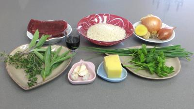 Ingrédients pour la recette : Boulettes de riz au boeuf à la vapeur