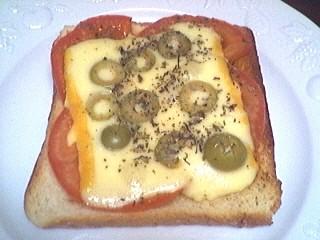 pain de campagne : Assiette de tartine à l'italienne