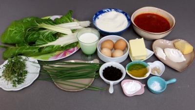 Ingrédients pour la recette : Cake aux blettes