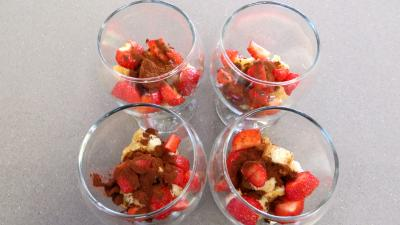Mascarpone ou tiramisu aux fraises - 3.4