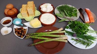 Ingrédients pour la recette : Cheesecake au saumon