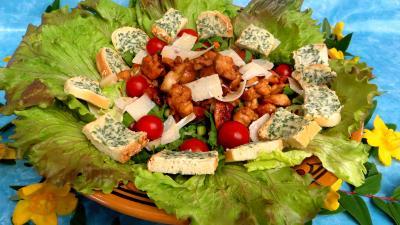 Recette Salade aux blancs de poulet