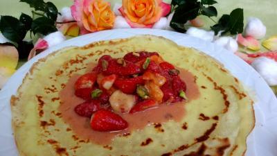 crêpes farcies : Crêpes aux fraises