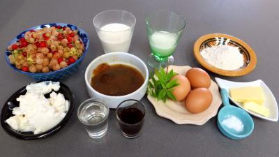 Ingrédients pour la recette : Timbales de groseilles