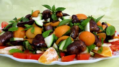 plat complet : Salade de nèfles
