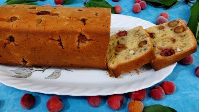 noisette : Cake aux cerises