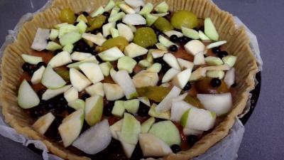 Clafoutis aux pommes, prunes et cassis - 2.2