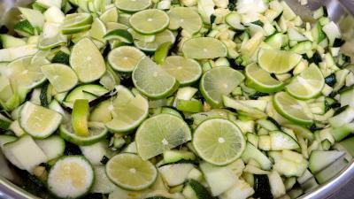 Confiture de courgettes et citrons verts - 2.3