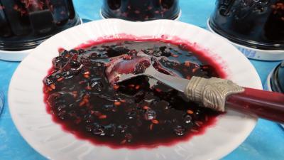 Recette Confiture de baies de sureau à la rhubarbe